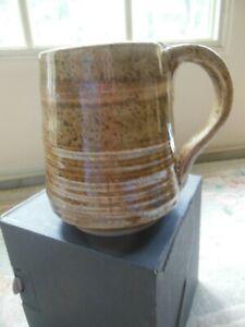 HANDMADE Signed Pottery Stoneware Coffee Mug Cup