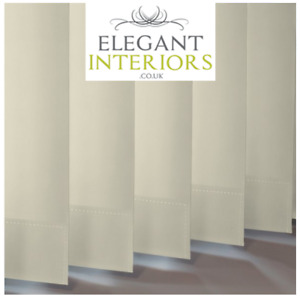 Banlight Duo FR Calico Blackout Cream - Made To Measure Complete Vertical Blind