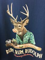 Tommy Bahama Mens T Shirt Size 3XB Big T Rum Rum Rudolph Navy Tee Christmas A40