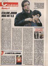 Coupure de presse Clipping 1991 Sylvester Stallone & Stallone Junior  (1 page)