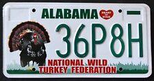 "ALABAMA "" WILDLIFE TURKEY - BIRD "" AL Specialty Graphic License Plate"