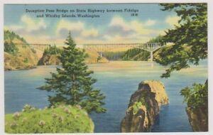 card - Deception Pass Bridge on State Highway, Washington (A182)