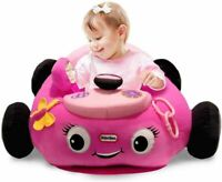 Little Tikes Pink Car Cozy Coupe Plush Toddler Seat Patrol Activity Baby Chair