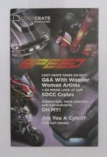 LOOT CRATE EXCLUSIVE MAGAZINE MAGAZINE GIORNALE SPEED Q&A CAR NEW NEW