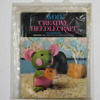 Avon Creative Needlecraft Doll Making Kit House Mouse Vintage 1973