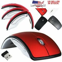 Folding 2.4G Mice Optical Mouse Wireless USB Receiver Mouse PC Computer Laptop