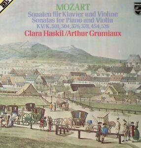 Mozart - Sonaten für Klavier und Violine, Clara Haskil, Arthur Grumiaux - 2 LP