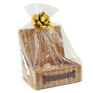 Make Your Own DIY Gift Basket Kit - 34cm Hamper Box, Shred, Bag, Bow, Gift Tag