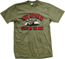 What Happens On The Boat Stays On The Boat Fishing Humor Funny Mens T-shirt