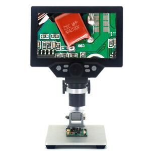 1200X Digital Mikroskop 7-Zoll LCD Dispaly 12MP Microscope Lupe Mit StäNder U3Y7
