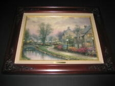 1997 Framed Thomas Kinkade-Lamplight Lane -Coa