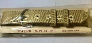 NOS 1940s WW2 US Military Issue Wristwatch Khaki Band 1-piece 15 mm wide (B1T)