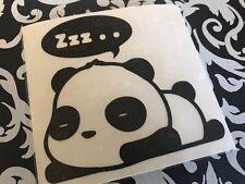"Matte Black Sleepy Panda 4"" Decal Vinyl Die Cut Sticker JDM Illest Canibeat Bear"
