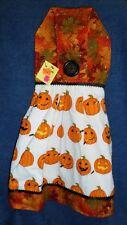 **NEW** Handmade Halloween Pumpkin Carving Hanging Kitchen Hand Towel #1825