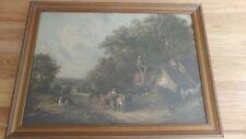 Vintage/Antique Morris and Bendien Print ~ The Farm Scene