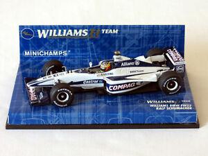 Ralf Schumacher 2000 Williams F1 Team BMW FW22 Formula One Minichamps 1:43