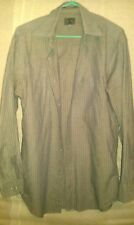 CHEMISE CALVIN KLEIN  T L 14 MANCHES LONGUES RAYURES