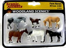 HO Scale Model Railroad Trains Woodland Scenics Farm Horse Animal Figures 1862