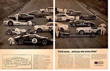 1967 FORD GT MARK II - COBRA 427 - FAIRLANE 427 - GT MARK I - GT-35 ORIG 2-PG AD