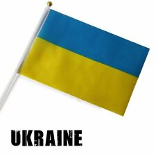 Ukraine Held Stick FLAGS Hand Table Flag Festivals Country УКРАЇНА Olympic 5pcs