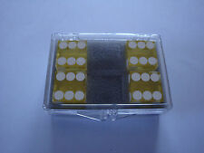 DICE 4 PACK YELLOW NEAR PRECISION 19MM CASINO MAGIC TRICK CLOSE UP GAMES NOVELTY