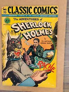 Classic Comics #33 Sherlock Holmes 1st printing HRN 33 I combine Shipping!