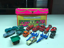 Old Vtg TOOTIETOY Car Automotive Center Toy With Diecast Metal Cars Trucks Jeep
