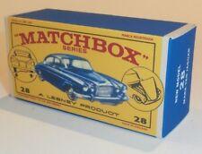 Matchbox Lesney 28 Mark ten Jaguar empty Repro  style E Box