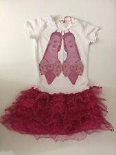Miss Grant Girls Dress 34, Age 8, Swarovski Crystals, White Pink, Vgc