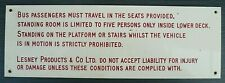 LESNEY PRODUCTS (MATCHBOX TOYS) ~ STAFF TRANSPORT NOTICE FROM DOUBLE DECK BUS