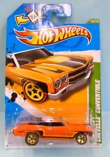 3143 HOT WHEELS / CARTE US / TREASURE HUNTS 2012 / CHEVELLE CONVERTIBLE 70 1/64