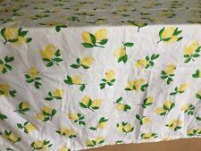 """Kate Spade Make Lemonade Lemons Tablecloth 61"""" x 78"""",COTTON,EUC"""