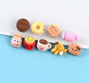 20pc Mixed Resin Mini Fries Donut Cookies Candy Cup Flatback Buttons Decorations