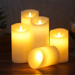 LED Candles Battery Operated Flameless Flickering Electric Candle Pack of 3 or 5