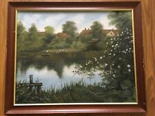 Rare Beautiful Original Oil On Canvas Painting By C. JUNGE Framed