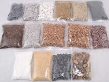 WWS Large Miniature Model Sand Rock Gravel Base Kit -  Choose Order