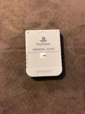 Official Sony Playstation 1 PSone White Memory Card! ~ Fastest Shipping! ~ OEM