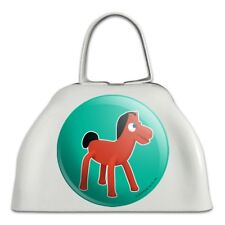 Pokey Gumby's Horse Pony Pal Friend White Metal Cowbell Cow Bell Instrument