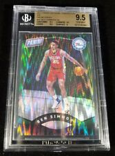 BEN SIMMONS RC ROOKIE PANINI THE NATIONAL GREEN PRIZM REFRACTOR BGS 9.5 GEM  /5!