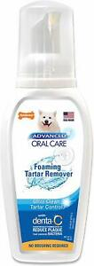 (4 Pack) Nylabone Advanced Oral Care Foaming Tartar Remover |Dog Dental Hygiene