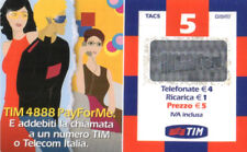 3987 SCHEDA TELEFONICA RICARICA USATA TIM PFM5-P AGO.2004