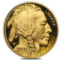2015 W 1 oz $50 Proof Gold American Buffalo (w/Box & COA)