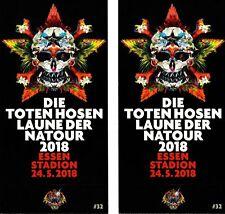 2 Karten - Tickets für Die Toten Hosen LIVE 24.05.2018 Essen Stadion Germany