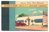 Mid-1900s Looker's Diner, Rutland, VT Postcard