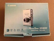 CANON POWERSHOT SD600 DIGITAL ELPH CAMERA USED IN BOX