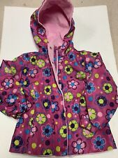 Guc Girls London Fog Pink Floral Hoodie Jacket Size 3T