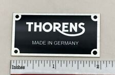 Thorens Made in Germany Turntable Name Plate Custom Made Aluminum