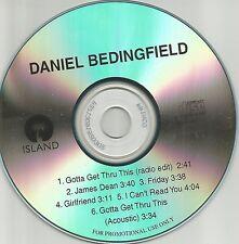 DANIEL BEDINGFIELD Ultra Rare 6TRX Sampler TST PRESS PROMO DJ CD USA 2002 MINT
