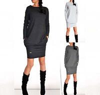 2015 Womens Fashion Winter Basic Style Dress Long sleeve Tunic OL Mini Sundress