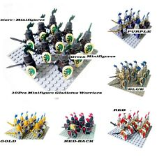 Collection 10 Pcs Gladiatus Warriors Full Color Medieval Knights Army Lego MOC